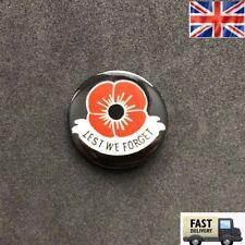 POPPY BUTTON PIN BADGE 37 mm Remembrance ENAMEL Veteran Army LAPEL NEW Gift UK