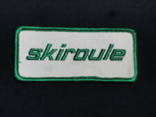 Vintage Skiroule Snowmobile 1960-70's Original Accessory Embroidered Patch