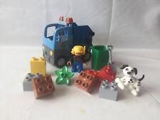 LEGO Duplo Set 10519 - Müllabfuhr blau - Müllauto - Staßenarbeit - komplett& TOP