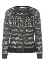 ISABEL MARANT ETOILE SUPERKID MOHAIR BLEND BOUCLE KNIT CARDIGAN GLASCO-SIZE 38