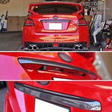 Carbon Dry For SUBARU WRX STI Sedan Rear Trunk Handle Lid Cover Trim 2015up