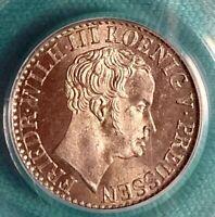 1839-A German States Prussia Friedrich Wilhelm II half silver groschen PCGS MS66