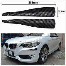 One Pair DIY Black Carbon Fiber Look 283mm Car Bumper Corner Protector Guard Kit