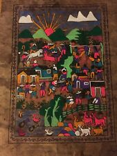 Mexican Folk Art Bark Painting