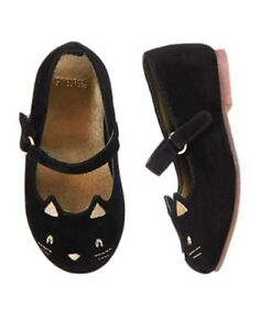 NWT GYMBOREE City Kitty Flats Dress Shoes Size 6 7 8 9 toddler