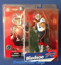 McFarlane Toys NFL Drew Bledsoe Buffalo Bills White Chase Variant S6 2003 Pats