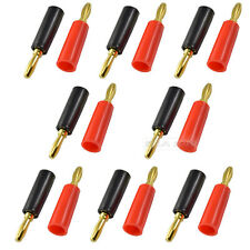 8 Pairs Speaker banana plug connector 24k Gold plateD