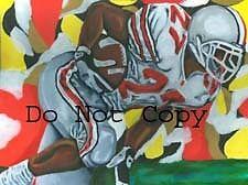 Eddie George Ohio State Buckeyes painting Titans