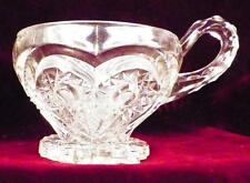 Zippered Heart Punch Cup Early American Pattern Glass Clear Imperial #292 1912