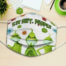 The Grinch Six Feet People FaceMask Printed in US Fits All Size Washable