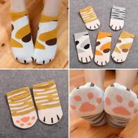 Winter Autumn Kawaii Animal Cotton Socks Funny Cute Women Cats Paw Cartoon Socks