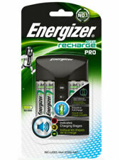 Energizer Pro Charger AA and AAA + 4x AA 2000mAh NiMH Rechargeable Batteries