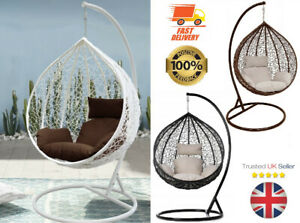 Garden Egg Chair Hanging Swing Outdoor/patio white/black/brown Rattan style pod