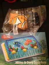 DecoPac FINDING NEMO AND DORY SQUIRTERS CAKE TOPPER DECORATING KIT BIRTHDAY NEW