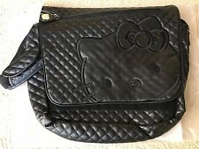 HELLO KITTY LICENSE MESSENGER SHOULDER BAG Quilted Stitch Pattern PVC Leather