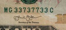 Federal Reserve Note - Fancy Serial Number $10 Ten Dollar Bill