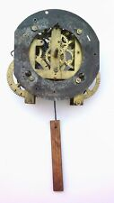 Antique Clock Movement Gilbert 1903 with front mounting bracket for restoration