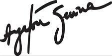 Sticker Ayrton Senna 105 Signature - 115x57 cm