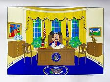 Disney MICKEY MOUSE FOR PRESIDENT Limited Edition Serigraph Art OVAL OFFICE