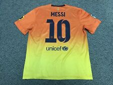 2012 2013 FC Barcelona Orange Away Jersey Shirt Kit Nike Lionel Messi Large L 10