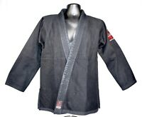Fuji Mens Size A2 Black Victory Kimono Martial Arts Jiu Jitsu 100% Cotton Heavy