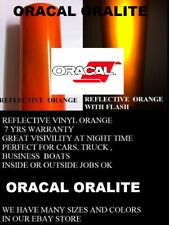24 X 5 Ft Orange Reflective Vinyl Adhesive Sign Made In Usa Oracal Oralite