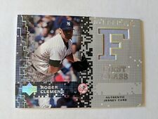 ROGER CLEMENS 2003 UD FINITE FIRST CLASS GAME USED JERSEY ~ YANKEES