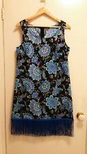 NEW Arabian floral fringe shift dress, size 12