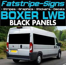 PEUGEOT BOXER L3 LWB BLACK PANELS VINYL WINDOWS GRAPHICS MOTORHOME CAMPER VAN