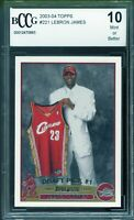 2003-04 Topps #221 LeBron James Rookie Card BGS BCCG 10 Mint+