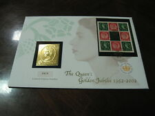 2002 QUEEN's GOLDEN JUBILEE FIRST DAY COVER SILVER covered in GOLD STAMP IGNOT