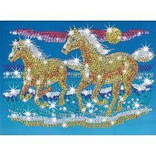 KSG Sequin Art Paillettenbild mit Perlen Pferde 620