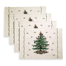 Spode Christmas Tree Placemat, Set of 4, New