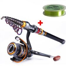 Telescopic Fishing Rod And 11BB Fishing Reel 1.8-3.6m Wheel Portable Travel Bass