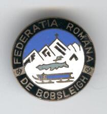 St. Moritz 1948 Winter Games Switzerland Romania Bobsled Federation Badge RARE