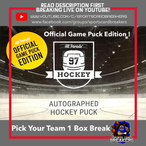 PICK YOUR TEAM 20/21 HIT PARADE OFFICIAL GAME PUCK EDITION (1)BOX BREAK #02