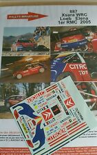 DECALS 1/43 REF887 CITROEN XSARA WRC SEBASTIEN LOEB RALLYE MONTE CARLO 2005