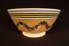 Rare Large 1800s Cable or Earthworm Tea Bowl Mochaware Pearlware Staffordshire