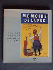Mémoire de la rue, souvenirs d'un imprimeur et d'un afficheur.