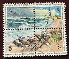 Scott #1448-51 2c 1972 Block of Cape Hatteras Nat'l Seashore F-VF NG