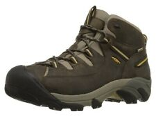KEEN Men's Targhee II Mid Waterproof Hiking Boot,Black Olive/Yellow, 9 M US