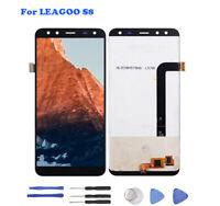 Pour Leagoo S8 Écran Tactile LCD Afficher Assemblée Digitizer Replacement Noir