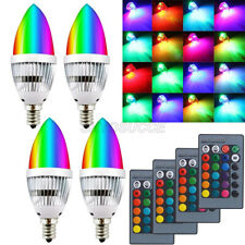 E14 E12 3W RGB LED Light Bulb 16 Colors Changing Candle Lamp With Remote Control