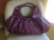 Rabeanco lila weiches Leder Plissee Large Hobo Handtasche Handtasche