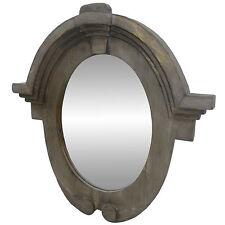 Grand Miroir Oeil de Boeuf Chapeau Gendarme Glace Ovale Reflet Harmonieux 50cm