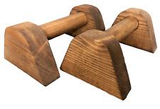 Dark & Medium Wooden Mini Portable Parallettes Handstand Gymnastics Push Up Bars