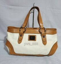 BURBERRY Tweed Large Satchel Bag