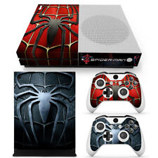 Spider-Man Sticker Decal SKIN FOR XBOX ONE S CONSOLE +2Controllers spiderman