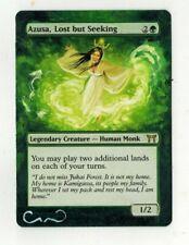 Azusa Lost but Seeking Altered Art MTG Magic Commander EDH Birthday Full Gift