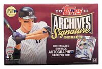2018 TOPPS ARCHIVES SIGNATURE SERIES HOBBY LIVE RANDOM PLAYER 1 BOX BREAK #5